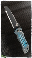 PVK Custom Cerakote Fallout Blue Benchmade Auto Stryker Serrated Black Blade
