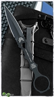 Benchmade SOCP Dagger Fixed Blade,  Black 440C