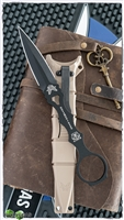 Benchmade SOCP Dagger Fixed Blade,  Black 440C, Desert Sand Sheath