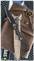 Benchmade SOCP Fixed Blade, Serrated Black 440C w/ Desert Sand Sheath