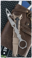 Benchmade SOCP Rescue Tool w/ Desert Sand Sheath, Gray 440C