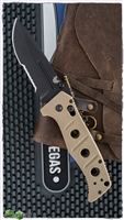 Benchmade Sibert Adamas AXIS Lock, Serrated Black D2, Black G10
