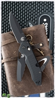 "Benchmade Outlast OPTION Lock Rescue Knife, Black CPM3V/CPMS30V, Black G-10 (3.6"" Black)"