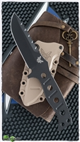 Benchmade 375 Adamas Fixed Blade, Black D2, Desert Tan Sheath