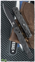 "Benchmade SOCP Tactical Folder AXIS Lock, Serrated Black D2, CF-Eliteâ""¢"