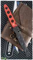 "Benchmade SOCP Tactical Folder AXIS Lock, Red D2 Trainer CF-Eliteâ""¢"