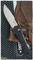 Benchmade 407 Vallation AXIS-Assist Opening, Stonewashed S30V, Black Aluminum