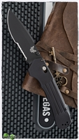 Benchmade 407 Vallation AXIS-Assist Opening, Black Serrated S30V, Black Aluminum
