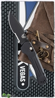 Benchmade 427 Mini Vallation AXIS-Assist Opening, Black Aluminum, Black Serrated CPM-S30V