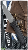 Benchmade Bailout AXIS Lock, Black Grivory, Gray CPM-3V