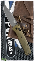 Benchmade Bailout AXIS Lock, Green Aluminum, Gray CPM-M4