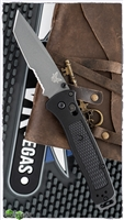 Benchmade Bailout AXIS Lock, Black Grivory, Gray Serrated CPM-3V