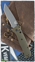 Benchmade Bailout AXIS Lock, Green Aluminum, Gray Serrated CPM-M4