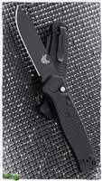 Benchmade Mediator Auto, Plain Edge, Black G-10, 8551BK