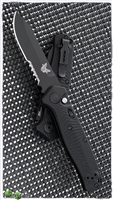 Benchmade Mediator Auto, Serrated Edge, Black G-10, 8551SBK