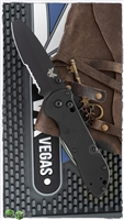 Benchmade Triage AXIS Lock Knife Black G-10, Black Serrated N680