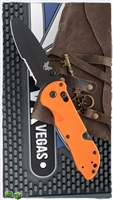 Benchmade Triage AXIS Lock Knife Orange G-10, N680 Black Serrated