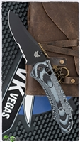 Benchmade 950SBK Rift Osborne Axis Lock, Reverse Tanto Black Serrated 154CM