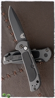 Benchmade 9750BK Mini Coalition Black Blade & Gray w/Black Inlays