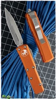 Microtech UTX-85 D/E 232-4OR Satin Blade Orange Handle
