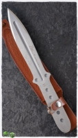 Boker Magnum Bailey Ziel Set of 2 Throwing Knives, Leather Sheath