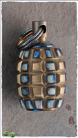 Titanium Frag Grenade Bead Torched