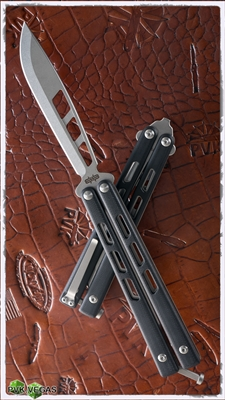 Brous Blades  Blackcell Balisong Stonewash