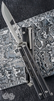 Brous Blades  Blackcell Balisong Satin