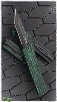 Brian Tighe & Friends Large Twist Tighe D/A OTF, Distressed Green DLC Tanto