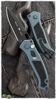 Buck Model 898 Impact Blue Handle Black Blade