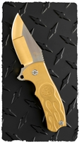 BURN Knives Custom Broadhead Flipper Folding Knife