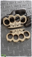 "BURN Knives Classic Knuckles 1/2"" Brass Dragon"