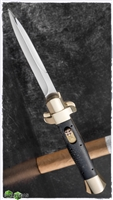 BURN Knives Custom D/A OTF Italian Bayonet Brass & Juma Blacksnake Scales