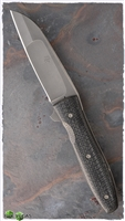 Brad Zinker Compound Wharncliffe, CPM154, Silver Lightning Strike Carbon Fiber Scales