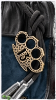 13 Brass 4 Finger Knuck Black and Yellow Holes Pattern