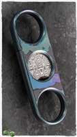 Custom Cigar Cutter Zircuti Chassis W/Damasteel Blade