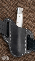 Custom Ostrich Leather Pancake Belt Sheath Fits Everything