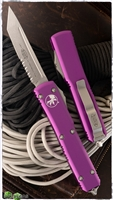 Microtech Ultratech T/E 123-11VI Serrated Blade Violet Handle