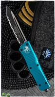 Microtech Combat Troodon T/E 144-3TQ Full Serrated Turquoise Handle