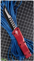 Microtech Combat Hellhound 519-DLCRD Red Handle Black Blade