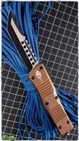 Microtech Combat Hellhound 519-DLCTA Tan Handle Black Blade