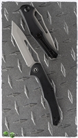 "CIVIVI Fracture Tanto Slip Joint Knife, Black G-10, 3.5"" BB/SW Steel Blade"