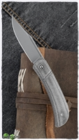 CIVIVI Knives C2015C Appalachian Drifter Slipjoint Flipper Knife S35VN Clip Point Blade, Dark Green Micarta Handles