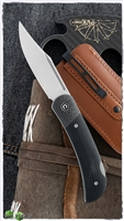 CIVIVI Knives C914A Rustic Gent Folding Knife D2 Satin Clip Point Blade, Black G10 Handles with Carbon Fiber Bolsters