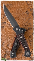 Protech Brend #2 Small Size 1262 Amber Jigged Bone Black on Black