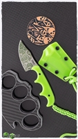 "CRKT Folts Minimalist Bowie Neck Knife Green ""Gears"""