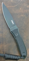CRKT Carson Black Fixed Blade Neck Knife, Black G-10