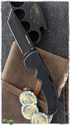 Cold Steel Recon 1 Tanto Lockback, Black G-10, Black Plain Edge CPM-S35VN