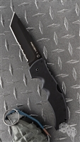 "Cold Steel Recon I Tanto Point Lockback, 4"" Black Partial Serrated CPM S35VN,  Black G10 Scales"