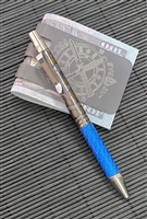 Darrel Ralph Designs (DDR) Flame Anodized Titanium and Blue Carbon Fiber Go Pen